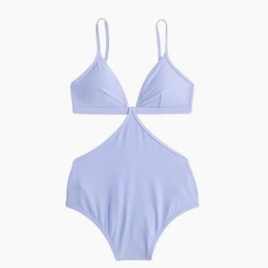 J. Crew Cutout one-piece swimsuit - Soft Lavender